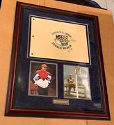 George H.w. Bush And Jack Nicklaus Dual Autographed 100th Us Open Flag-psa