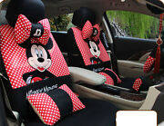 1 Set Red Universal Four Season Cartoon Mickey Mouse Car Seat Cover Car-covers