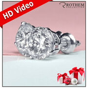 5,250 Solitaire Diamond Stud Earrings 1.07 Ct White Gold Si2 Studs 29451037