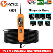 Kzyee Km50 Power Circuit Tester Probe Kit Auto Electrical System Testing Tool