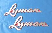 Lyman Boat Hull Tags-old Style From The 1950s-brand New
