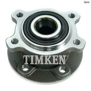 For Volvo S80 Xc70 S60 V60 Rear Set Of 2 Wheel Bearing And Hub Assembly