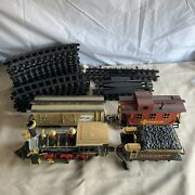 Vintage 1986 New Bright Gold Rush Express G-scale Train Set 186 Train And Parts