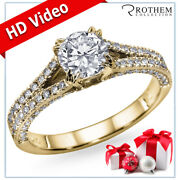 New Year Gift For Wife Diamond Ring 1.70 Ct F Si2 14k Yellow Gold 05751510