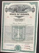 American Banknote Company Specimen Bond. State Of Israel. Independence Issue