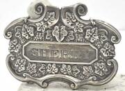 Set 2 Vintage Large Repousee Sterling Silver Hanging Liquor Decanter Tag Labels