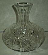 1800and039s Antique Abp Carafe Decanter American Brilliant Cut Glass Pinwheel Heavy