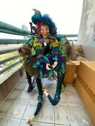 Katherineand039s Collection Life Size Female Peacock Jester Doll By Wayne Kleski New