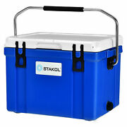 Stakol 26 Quart Portable Cooler Ice Chest Leak-proof 20 Cans Ice Box For Camping