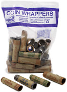 36 Rolls Preformed Assorted Coin Wrappers Tubes Pennies Nickels Quarters