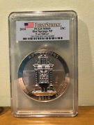 2010 5oz Silver America The Beautiful Atb Hot Springs Pcgs Ms69 First Strike