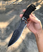 Hande Forged Damascus Hunting Knife Bowie Knives Survival Tactical Fixed Blade