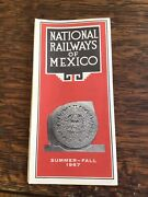 National Railways Of Mexico 1967 Pictorial Travel Guide And Schedule
