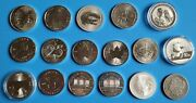 1 Oz Silver Coins- Us,canada,china,australia,and More- Total 17 Coins