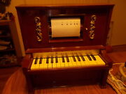 Nice One J Chein And Co Piano Lodeon Player Piano + 6 Rolls