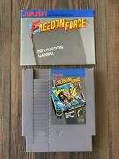 Freedom Force Nintendo Entertainment System Nes Manual Included. Tested.