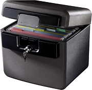 Hd4100 Fire-resistant Box Safe And Waterproof Box Safe With Key Lock 0.65 Cu.ft.