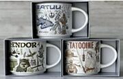 Disney Starbucks Star Wars Mugs Been There Set Tatooine Batuu Endor New Sold Out