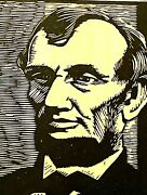 Woodblock Print Abraham Lincoln By Charles Turzak 1920's Ed Of 100 W/provenance