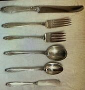 International Prelude Sterling Flatware Set For 4 With 6 Pieces