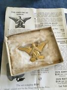 Wwii Emblem Of Honor Pin Eagle Chevron Star Military Brooch - 1 Star Box Paper