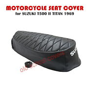 Motorcycle Seat Cover Suzuki T500 Ii T500 2 Titan 1969 And Strap