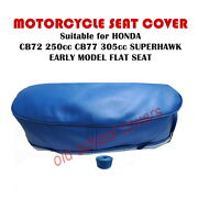 Motorcycle Seat Cover Will Fit Cb72 Cb77 Honda Superhawk Early Flat Blue22