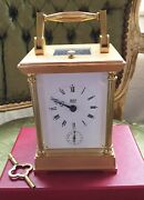 Dent Of London Solid Brass Strike Repeat And Alarm Clock French 8 Day Movement.