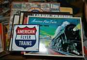 Lot Of 9 Lionel American Flyer And Railroad Metal Signs All Excellent Condition