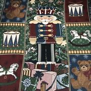 Mohawk Nutcracker Christmas Tapestry Blanket Afghan Throw Fringed Size 49andrdquo X 57andrdquo