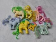 Collection Of 7 Assorted Vintage Hasbro My Little Pony Figures Loose