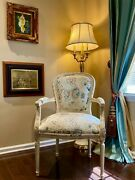 Ethan Allen French Style Carved Nicole Accent Chair