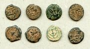 Decent Lot Of Seven Procuraters - Jewish Wars - Andc Bronze Prutahs 1.4 - 2.8 Gr
