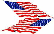 American Flag Decals Race Boat/bow Flags