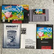 Kirbyand039s Avalanche Super Nintendo Authentic W/ Box + Manuals Cleaned And Tested