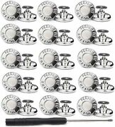 Manmanfei No Sew Button 17mm Replacement Jean Buttons,15 Sets Instant G