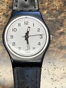 Vintage Swatch Ladies Watch Working Leather Strap New Battery