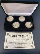 🔥4-1oz Silver United We Stand Coin Set 999 275/2001 Collectible Gift Invest🔥