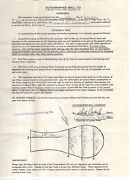 Daryl Patterson Signed Contract, 1968 Detroit Tigers World Series, Autographed
