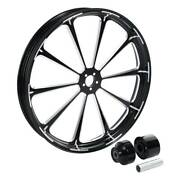 26and039and039 Front Wheel Rim Hub Single Disc Fit For Harley Road King Glide 08-21 Black