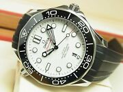 Omega Sea Master Diver300m Co-axial Master Chrono Meter 42 Mm White Dial Mens
