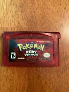 Pokemon Ruby Version Game Boy Advance, 2003 Saves - Adult Owned - Free Ship