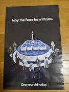Star Wars Birthday Cake 1978 1st Anniversary Poster & Case One Year Old Today