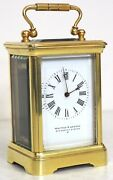Rare Vintage Walters And George French Carriage Clock Circa 1890 Roman Numerals