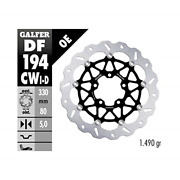 Galfer Floating Wave Brake Rotor - Front Front Right Black Compatible With 16-18