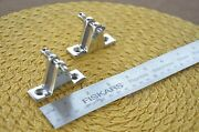 316 Stainless Bimini Top Hardware 90anddeg Deck Hinge Quick Release Pack Of 2
