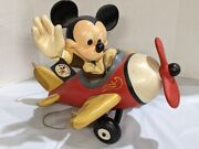 Vintage Rare Walt Disney Mickey Mouse And Co. Hanging Big Airplane Store Display