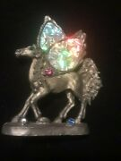 Comstock Pewter Pegasus Greg Neeley Signed Engraved Autograph Winged Horse Jewel