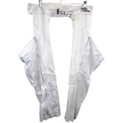 O246 Vintage Harley Davidson Motorcycles Chaps White Genuine Leather Menand039s