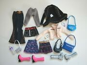 Lot My Scene Barbie Doll Fashion Clothes Bags Shoes Skirt Pants Jacket